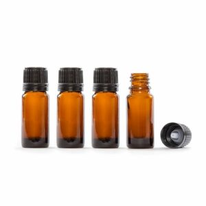 10ml Amber Glass Essential Oil Bottle Pack of 4