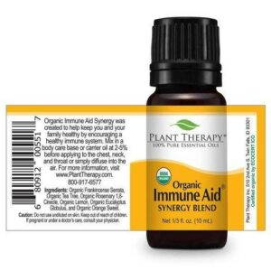 Plant Therapy Immune Aid Organic Synergy Essential Oil 10ml