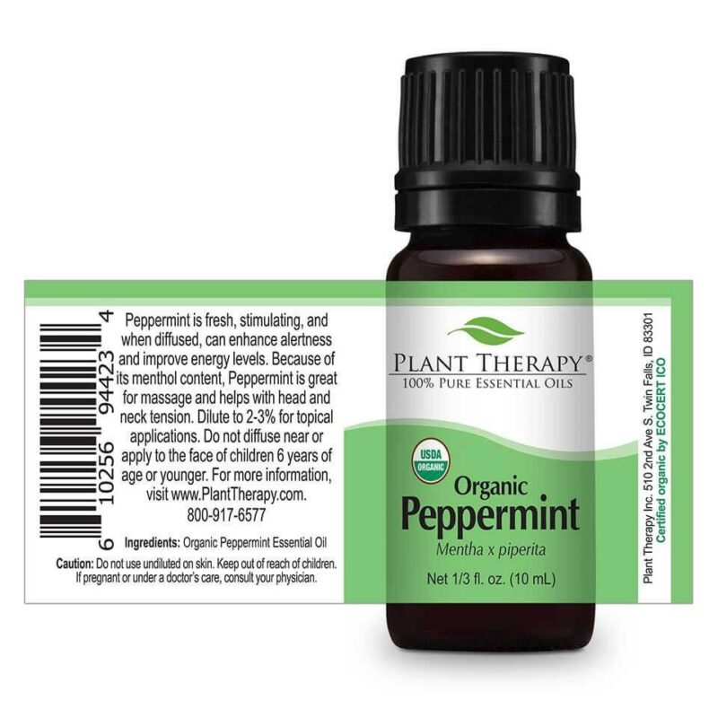 Plant Therapy Peppermint Organic Essential Oil