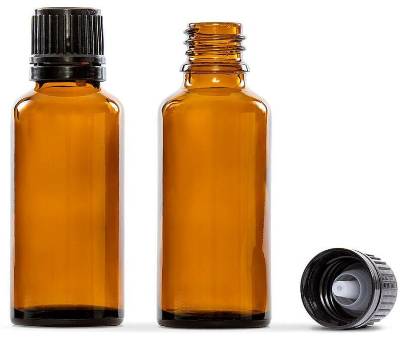 30ml Amber Glass Essential Oil Bottle Pack of 4