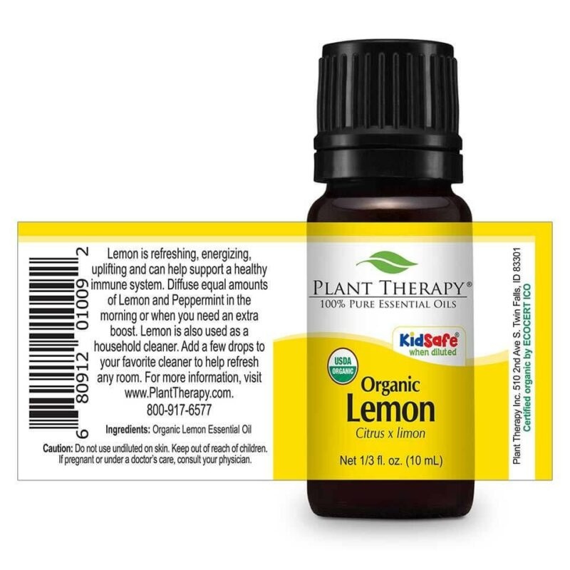 Plant Therapy Lemon Organic Essential Oil