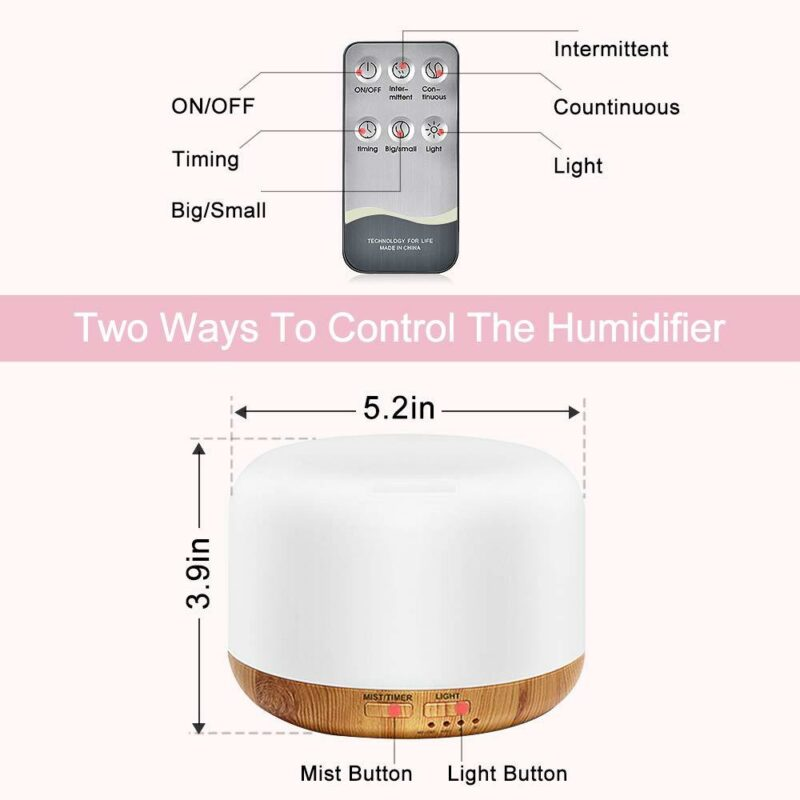 500ml Muji Wood Style Ultrasonic Diffuser