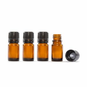 5ml Amber Glass Essential Oil Bottle Pack of 4