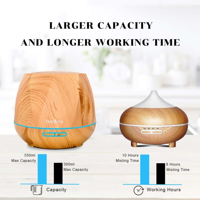 500ml wood design ultrasonic diffuser with Remote YK18