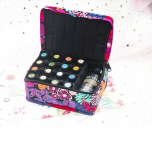Flower Design Essential Oil Carrying Bag (16+1)