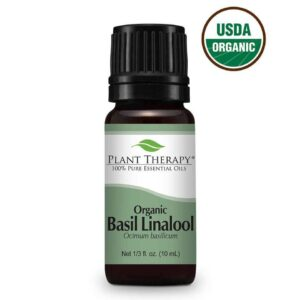 Plant Therapy Basil Linalool Organic Essential Oil