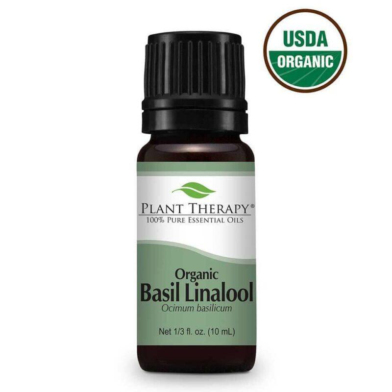 Plant Therapy Basil Linalool Organic Essential Oil