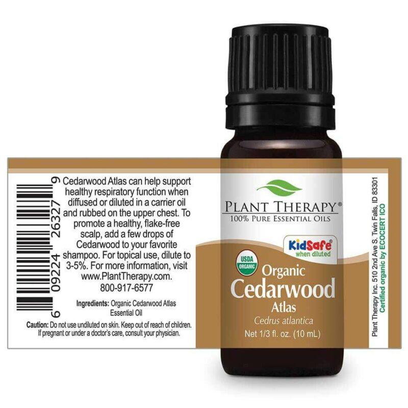 Plant Therapy Cedarwood Atlas Organic Essential Oil