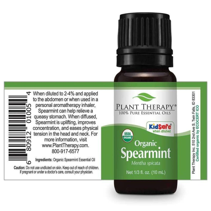 Plant Therapy Spearmint Organic Essential Oil