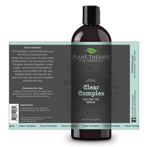 plant therapy clear complex carrier oil blendoilypod 352153