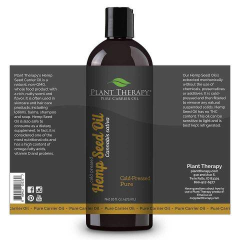 plant therapy hemp seed carrier oil 784966