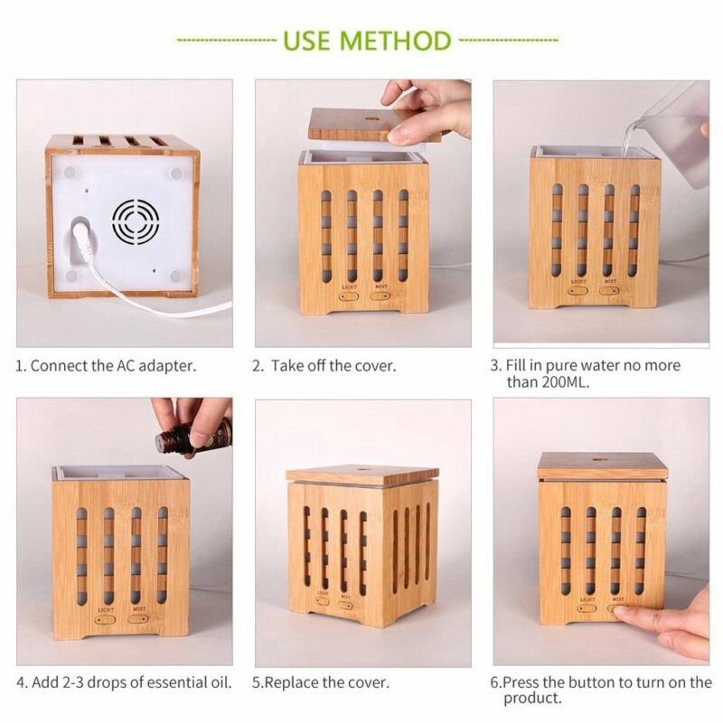 200ml Real Bamboo Essential Oil Diffuser